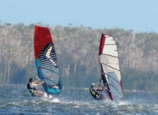 Windsurfing On Lake Cootharaba