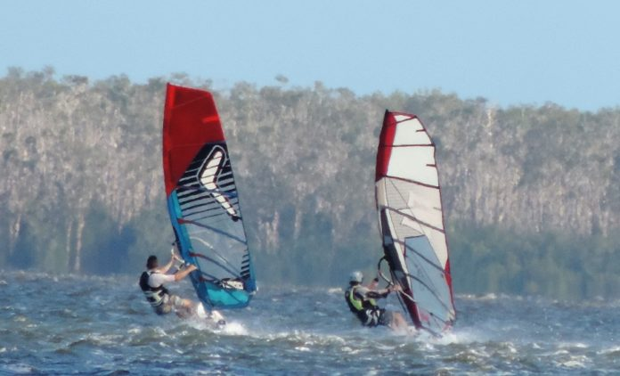 Windsurfing On Lake Cootharaba